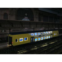Пассажирский двухэтажный вагон с освещением (LED) PIKO. Масштаб HO-1:87.