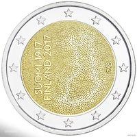 2 евро 2017 Финляндия 100 лет независимости Финляндии UNC из ролла