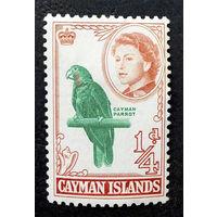 Каймановы острова 1962 г. Королева Елизавета II. Птицы. Известные люди. Фауна, 1 марка. Чистая #0077-Ч1P5
