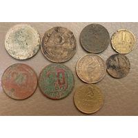 Лот монет ранних СССР и сопутка.