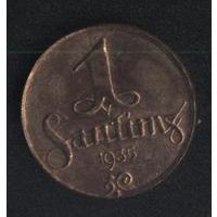 Латвия 1 сантим 1935 г. (*). Не плохой!!!