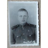 Фото солдата. 1950 г. 5.5х9 см.