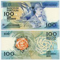 Португалия. 100 эскудо (образца 1987.12.03 года, P179d, подпись 2, UNC)