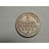 Пруссия 1 зильбергрошен 1861г