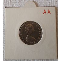Остров Мэн 1 фунт 1978 индекс AA , KM# 44, вирениум