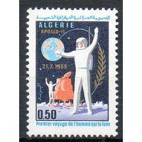 Космос Алжир 1969 год чистая серия из 1 марки