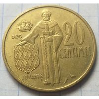 Монако 20 сантимов, 1962          ( 6-1-3 )