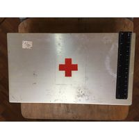 Ящик коробка аптечка авиационная авиация самолет СССР антураж алюминиевая