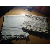 Льняные домотканые скатерти и длинные рушники
