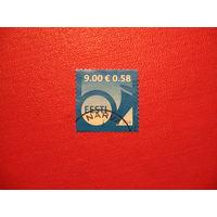 Марка Почтовый горн 2010 год Эстония