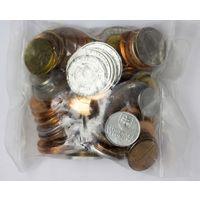 Сборный лот монеток 100 шт. в запайке (все разные),  UNC-