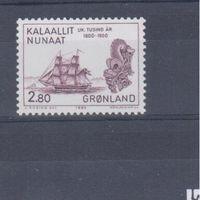 [812] Гренландия 1985.Корабли.Парусники.