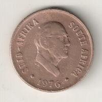 Южная Африка 1 цент 1976 окончание президенства Я.Й.Фуше