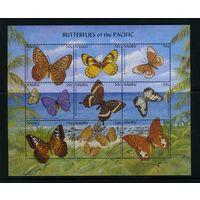 Науру 2002г. бабочки. 9м. 1 блок