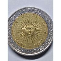 Аргентина 1 песо 1995-ошибка!!! Provingias!!!