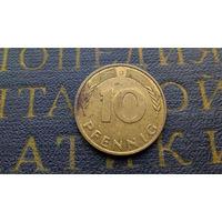 10 пфеннигов 1990 (G) Германия ФРГ #08
