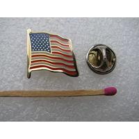 Значок-фрачник. Флаг США. тяжёлый, цанга