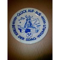Тарелка памятная. ГДР