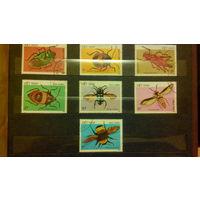 Жуки, насекомые, марки, фауна, Вьетнам, 1987