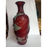 Старинная ваза, двухслойное стекло, Китай