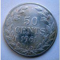 Либерия. 50 сент 1961 г. Серебро.