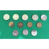 Кения, набор 12 монет: 1 шилинг + 50 центов Разные года, из оборота