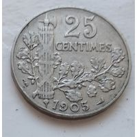 Франция 25 сантимов, 1905 4-14-26