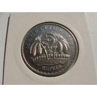 Маврикий. 5 рупий 1992 год КМ#56