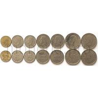 Испания 7 монет 1975-1984 годов. Хуан Карлос I (VF-XF)
