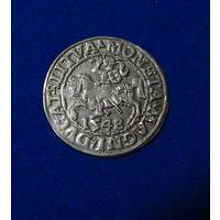 Полугрош 1548, Жигимонт Август, Вильно.  Окончания легенд: Ав - LI, Рв - LITVA. Штемпельный блеск , коллекционное состояние.
