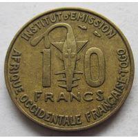 Французская Западная Африка 10 франков 1957