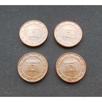 1 евроцент 2013 Мальта