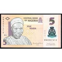 NIGERIA/Нигерия_5 Naira_2011_Pick#38.c_UNC