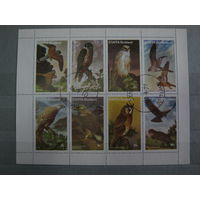 Марки - фауна, Шотландия, остров Стаффа, птицы