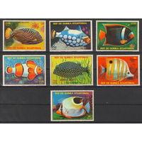 Экваториальная Гвинея Тропические рыбы 1979 год чистая полная серия из 7-ми марок и блока