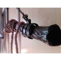 Люстра на цепях,дуб, ручная работа , hand made