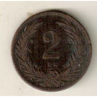 Венгрия 2 филлер 1895