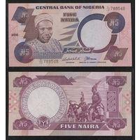 Распродажа коллекции. Нигерия. 5 найра 2005 года (P-24i - 1984-2019 Issue)