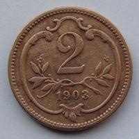 Австрия 2 геллера. 1903