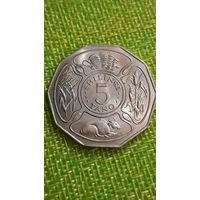 Танзания. 5 шиллингов 1971 год