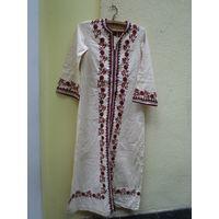 Этническое льняное платье, р.48-50/170-175