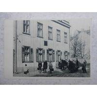 Открытка, Рига, дом по ул. Цесу, 17, где в 1900 г. останавливался В.И. Ленин, начало 1950-ых гг.
