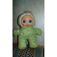 Кукла-пупс  СССР мягкая с резиновым лицом