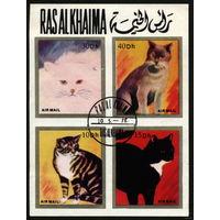 Кошки. Рас аль Хайма. 1978. Блок. Гаш.
