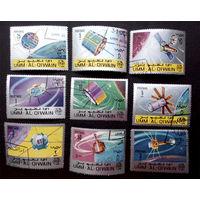 Умм-эль-Кайвайн 1966 г. Космос, полная серия из 9 марок #0048-K1
