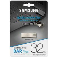 USB Flash Samsung BAR Plus 32GB (серебристый) б/у
