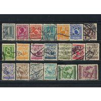 Австрия Респ 1925 Номинал Виды Стандарт #447-58,460-7