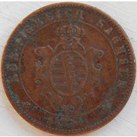 6. Саксония 5 пфенингов 1864 год