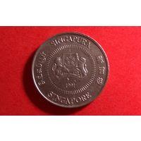 10 центов 1991. Сингапур.