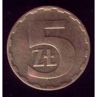 5 Злотых 1983 год Польша